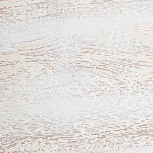 consola vintage rectangular de madera blanca rozada