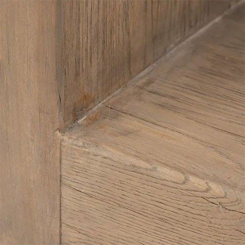 consola rectangular de madera natural de olmo