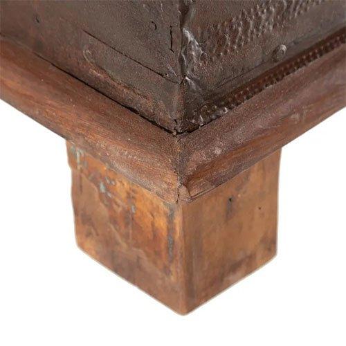 baul de madera oscura de teka