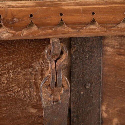 baul de madera natural teka