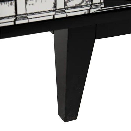 Aparador colonial con estampado de arcos blanco y negro