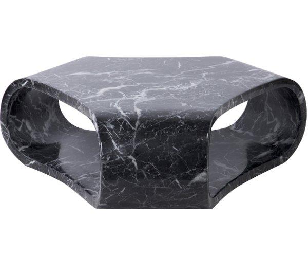 Mesa centro Karlskrona negro mármol artificial