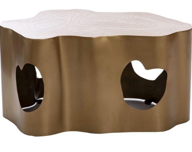 Mesa centro Jasper hierro latón