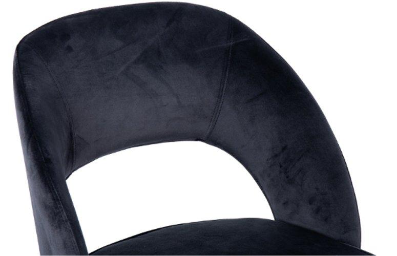 Silla Velvet Houston terciopelo negro