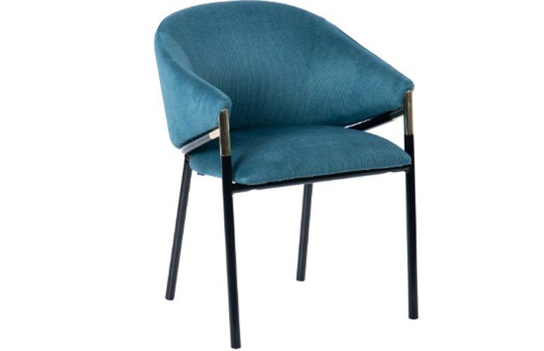 Silla Velvet Atlanta terciopelo azul