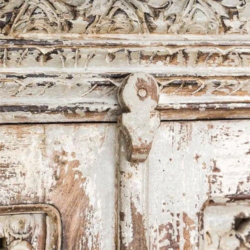 aparador vintage blanco rozado