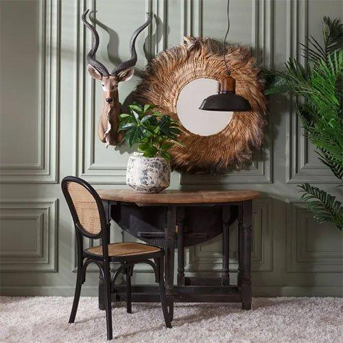 mesa de comedor redonda plegable