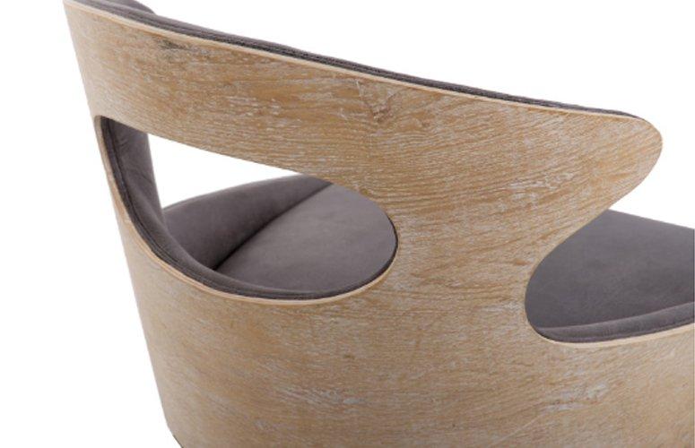 Silla Vesturland madera olmo gris