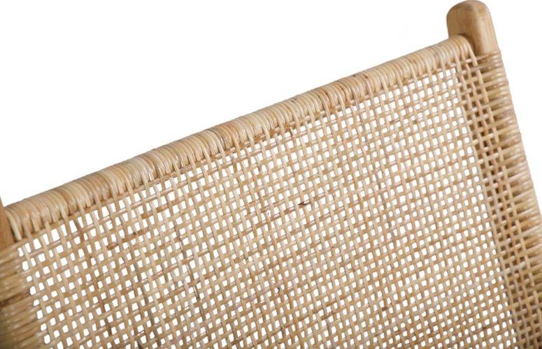 Silla Depok madera natural 78x64 cms