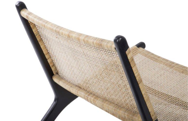 Silla Miri rattán teca negro