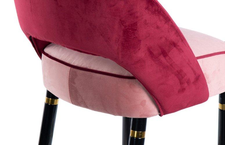 Taburete Velvet Norfolk rosa