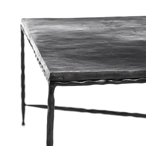 Mesa de centro de aluminio rectangular