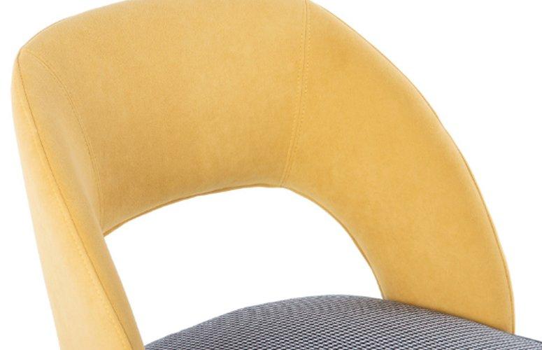 Silla Velvet Parkston terciopelo amarillo
