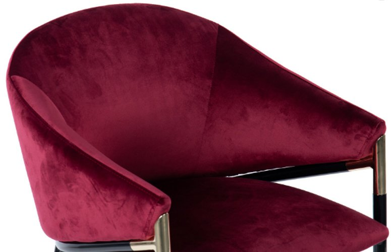 Silla Velvet Houston terciopelo rojo