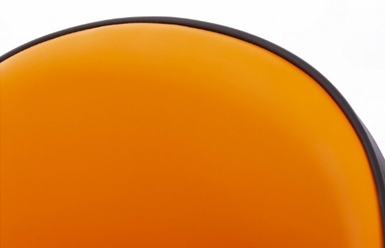 Silla Velvet Texas madera naranja