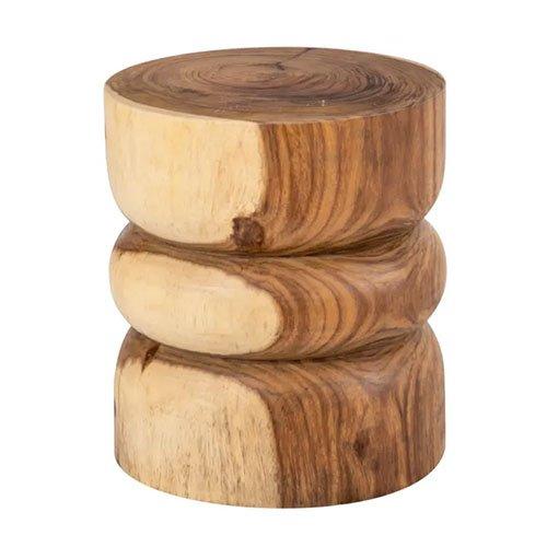 Mesa auxiliar madera de suar natural