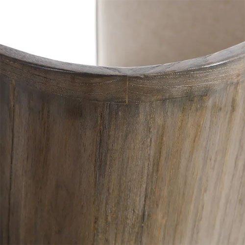 Sillón madera mindi natural y crema