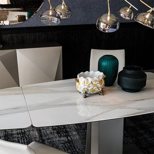 Mesa de comedor rectangular Duffy Keramik Drive