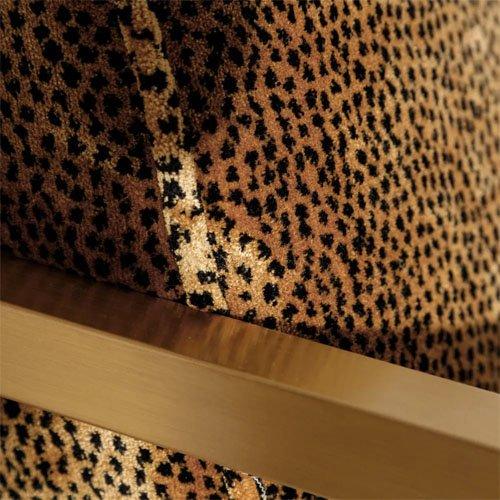 Sillon leopardo tejido-metal oro