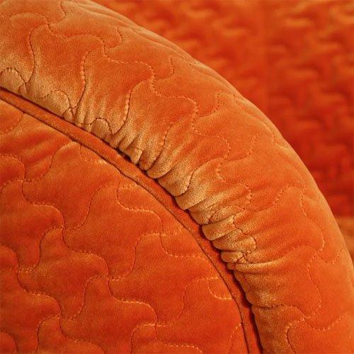 Sillón terciopelo naranja