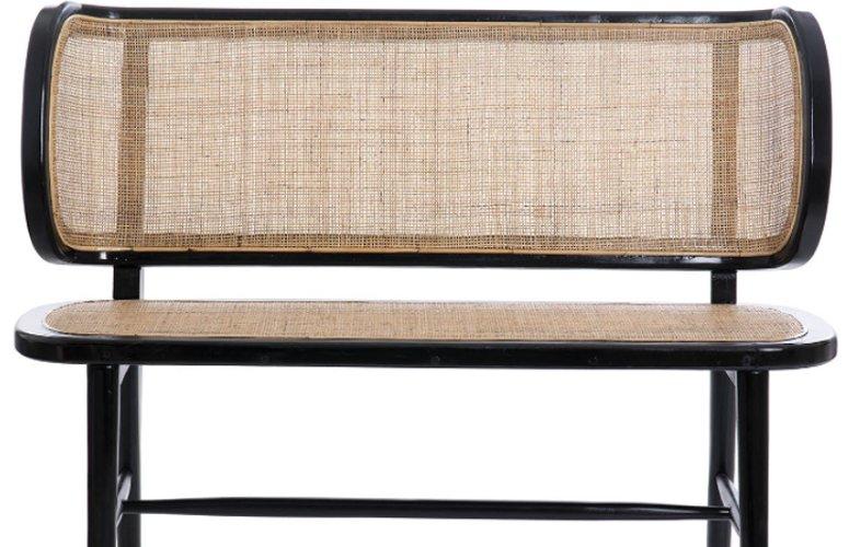 Banco Bikaner madera ratán