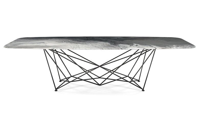 Mesa de comedor rectangular Gordon Crystalart Cattelan Italia