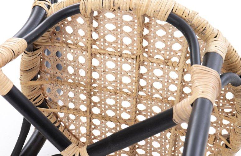 Silla redonda Lampung  ratán negro