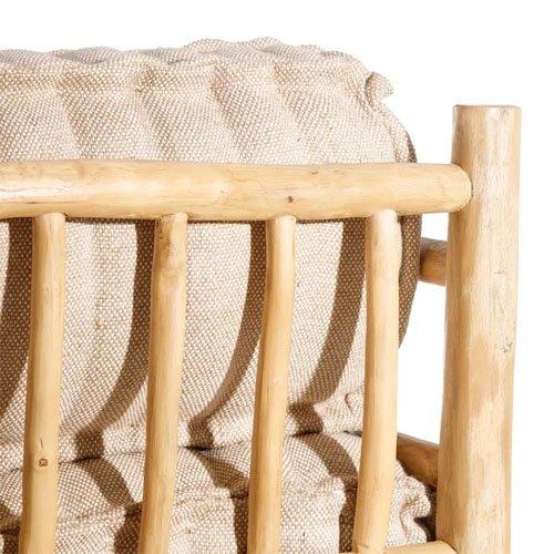 Sofá dos plazas madera teka natural