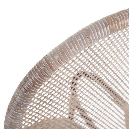 Silla ratán marrón-beige