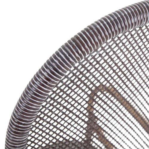 Silla ratán marrón oscuro-negro