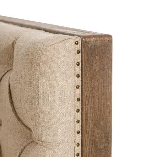 Sillón tejido-madera beige y natural