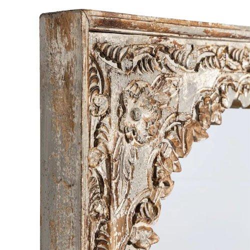 Espejo madera blanco decapé