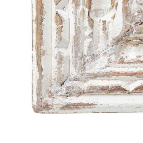 Espejo pared blanco rozado