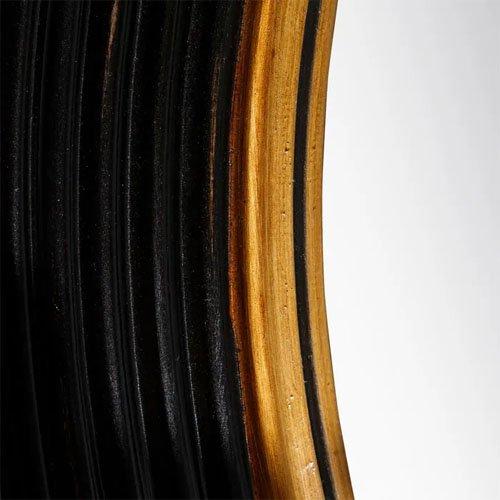 Espejo redondo negro-oro