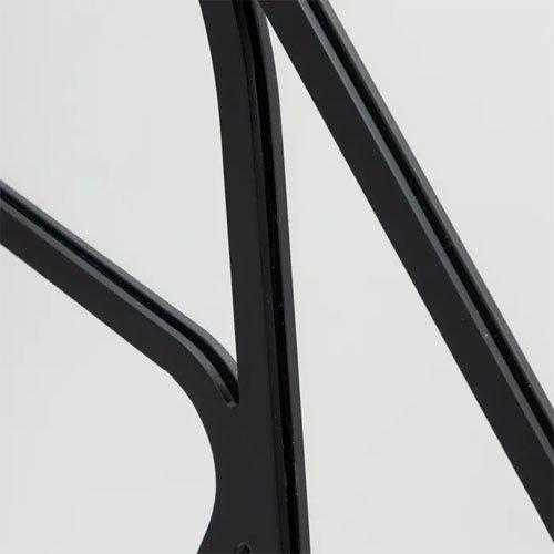 Espejo moderno metal negro