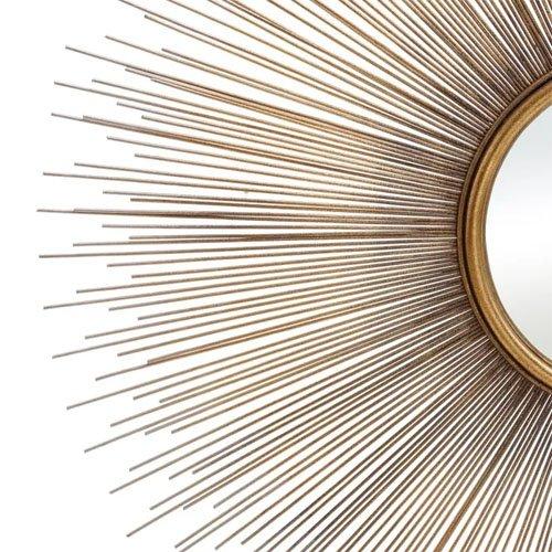 Espejo metal-cristal oro