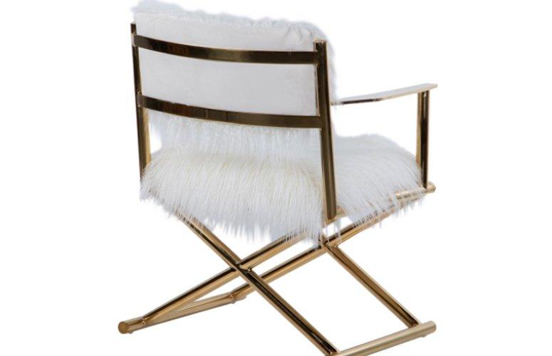 Silla Memphis blanco acero inoxidable
