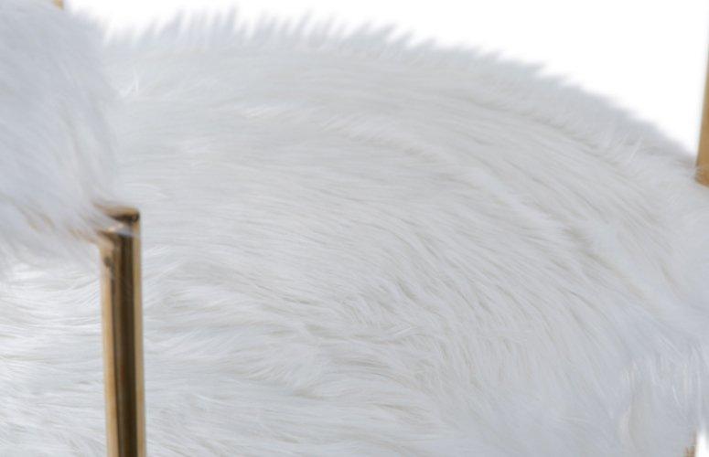 Sillón Kelowna tela blanco