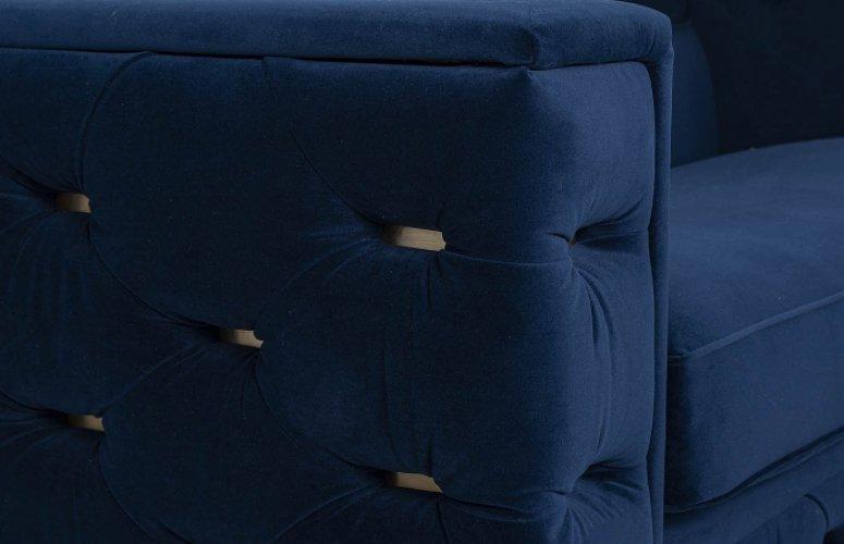 Sofá Velvet terciopelo azul