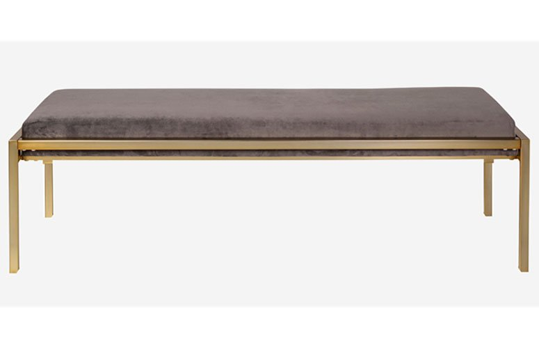 banco de cama Proud gris