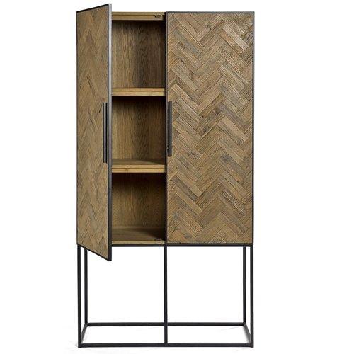 Armario alto madera pino y metal
