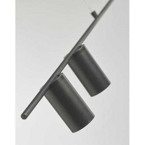 Lámpara de techo Tubular negro