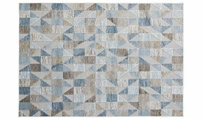 Alfombra viscosa geométrica azul Scarpa