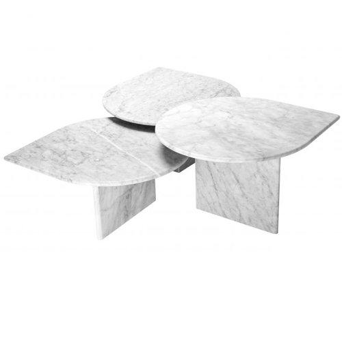 Mesa de centro mármol de carrara blanco Nápoles