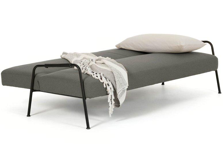 Sofá cama Neiela tela poliéster  180 cms gris