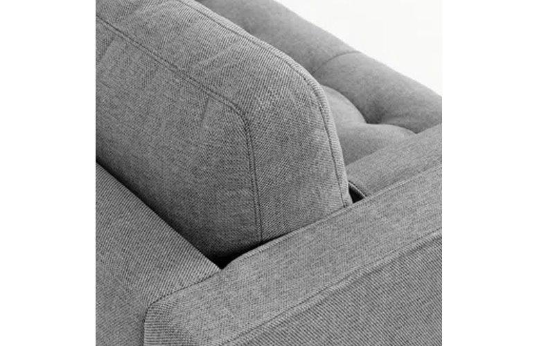 Sofá Debra chaise loungue gris claro 222 cms