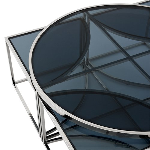 Mesa de centro cristal Padova