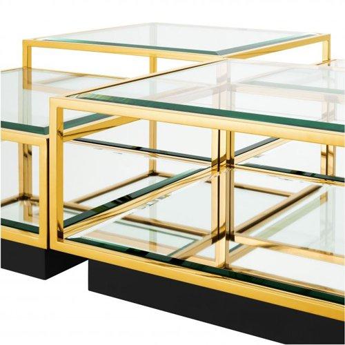 Mesa de centro cristal Tortona Set de 4