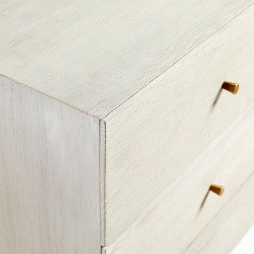 Cómoda rectangular roble blanco y