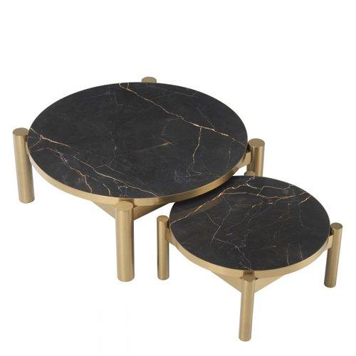 Mesa de centro ceramica Quest Set de 2